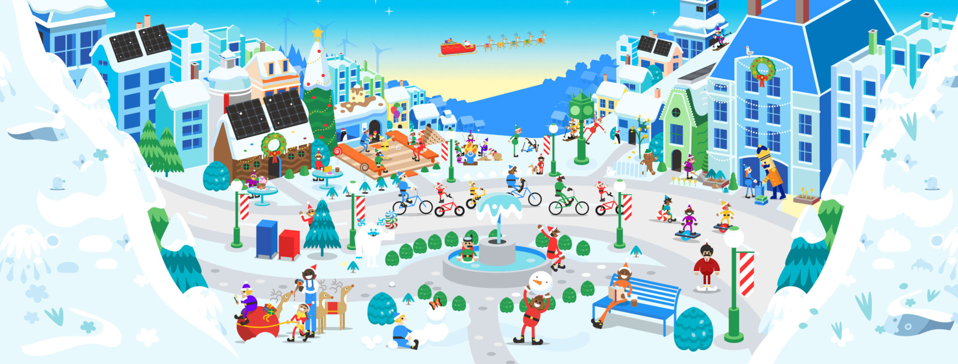 Facebook Header Google Santas Village