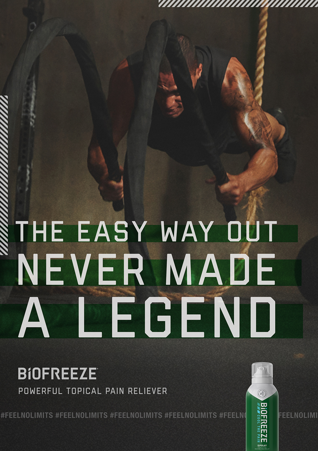 Biofreeze Limitless Campaign Print