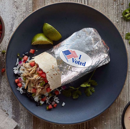 Qdoba Election I voted SOcial Post
