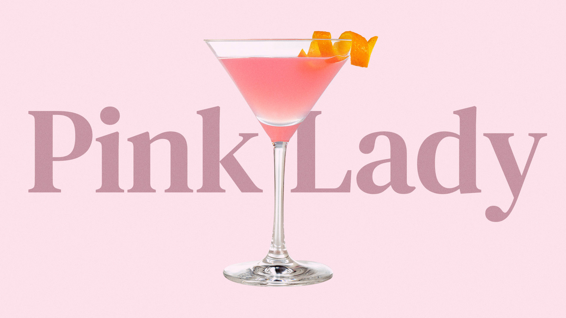 Pink Lady Drink From Thelma Todd Cafe